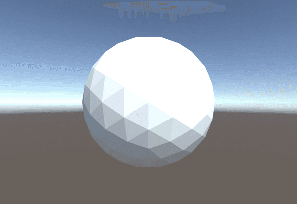 Non smoothed icosphere